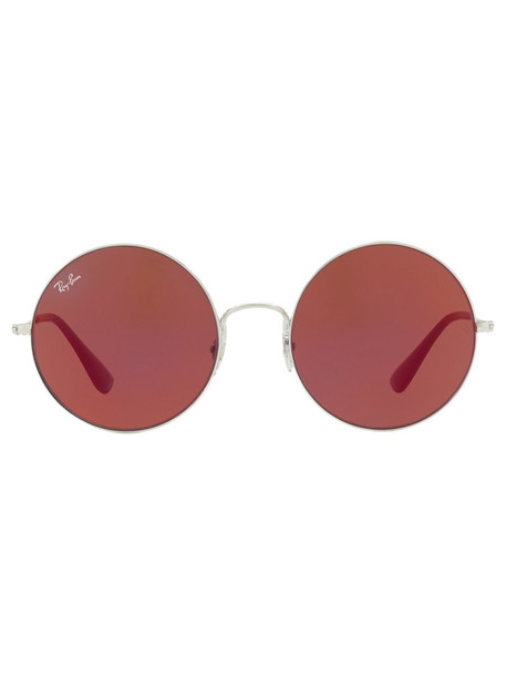 Ray-Ban metal women sunglasses red