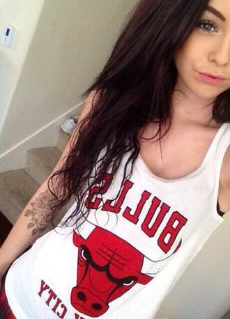 shirt tank top t-shirt chicago bulls acacia brinley so awesome