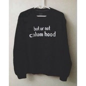 sweater,calum hood,5 seconds of summer,black,band merch