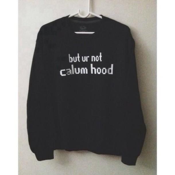 sweater calum hood 5 seconds of summer black band merch calum hood