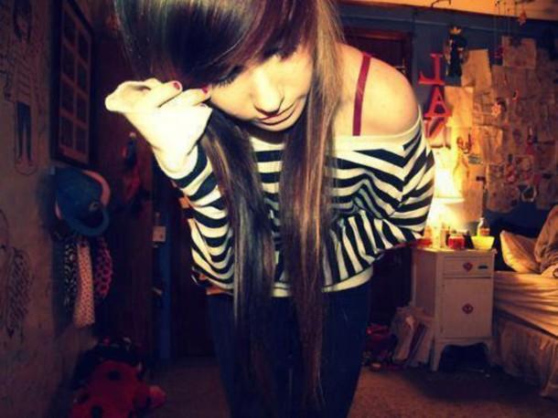 shirt clothes black and white striped shirt