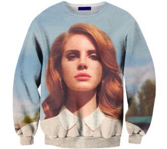 lana del rey t-shirt sweater blue national anthem album cover