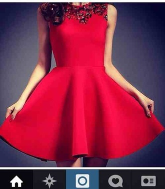 dress simple christmas sparkly for fitting cheap simple red dress dark red short sleeveless