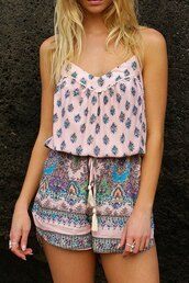 romper,boho,pink,trendy,hot,fashion,style,summer,cute,rose wholesale-feb