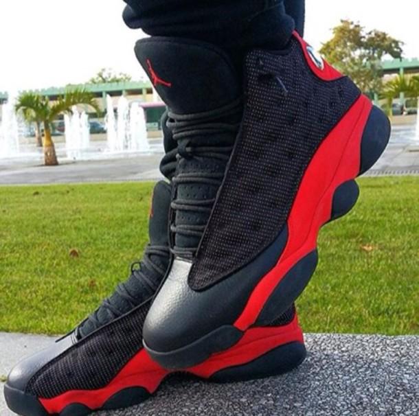 shoes jordans sneakers red jordans
