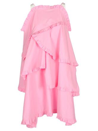 dress ruffle dress sleeveless ruffle pink