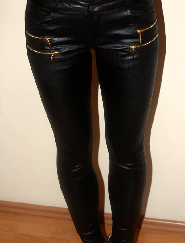 pants leggings black leather pants