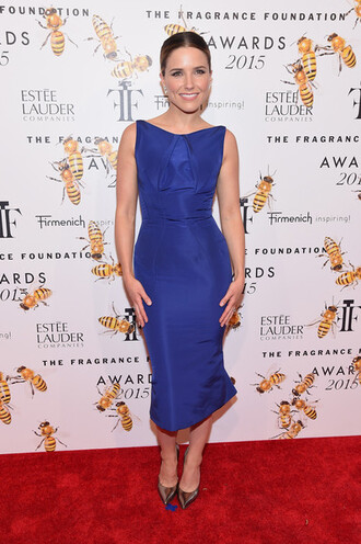 dress blue blue dress midi dress sophia bush