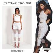 pants,maniere de voir,organza pant,mesh pants,mesh,kylie jenner,kylie jenner white pants,kylie jenner white bandage bikini