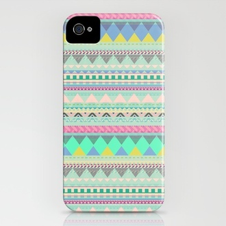 aztec pastel jewels iphone case iphone cover bag iphonr phone cover indie iphone case atzec print black coat large hood technology pink iphone 5 case colorful iphone cute