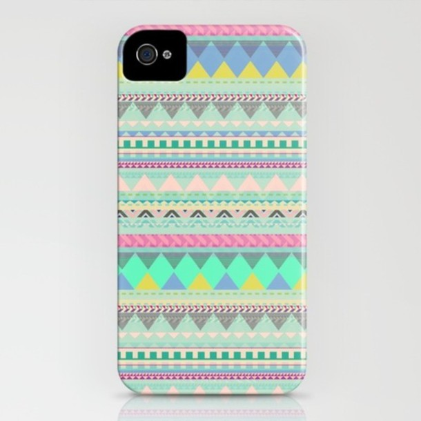 jewels aztec phonecase pastel iphone case iphone cover bag iphonr case