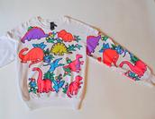 sweater,dinosaur,Dinosaur print