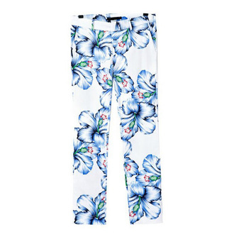 thin pants floral pants blue pants going out