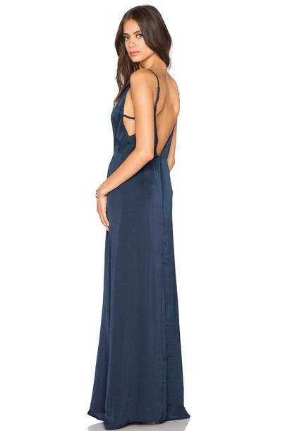 CAPULET dress maxi dress maxi v neck navy