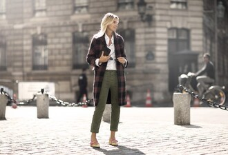 garance dore blogger cropped pants tartan