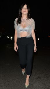 top,crop tops,bra,daisy lowe,fashion week 2014