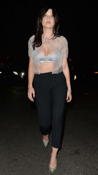 daisy lowe top crop tops bra fashion week 2014
