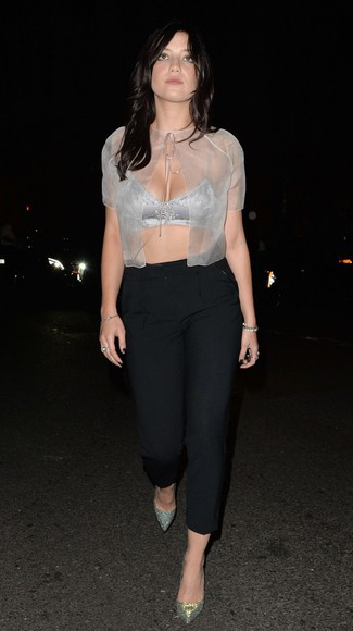 daisy lowe top crop tops bra fashion week 2014
