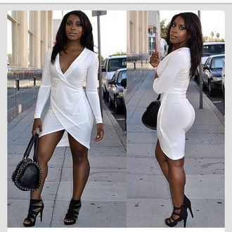 dress white dress high-low dresses short dress