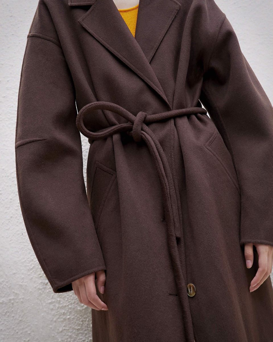 LOANE - Tube belt maxi coat