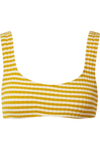 Solid and Striped bikini bikini top knit mustard swimwear