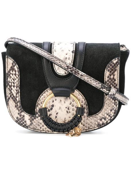 See by Chloe women bag crossbody bag cotton suede black