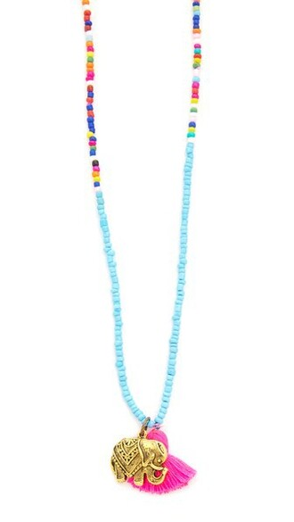 tassel beaded necklace jewels