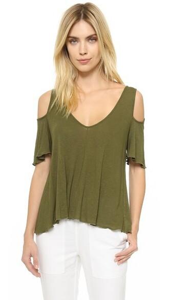 dark green top