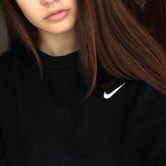 sweater nike hoodie black black sweater nike blouse white crewneck dress aestetics grunge hipster top sweatshirt