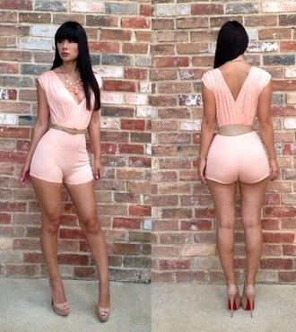 jumpsuit pink romper fashion