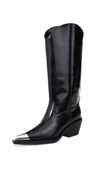 cowboy boots black shoes