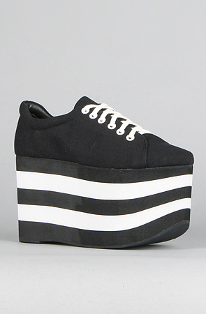 Jeffrey Campbell The Sporty Shoe in Black and White -  Karmaloop.com
