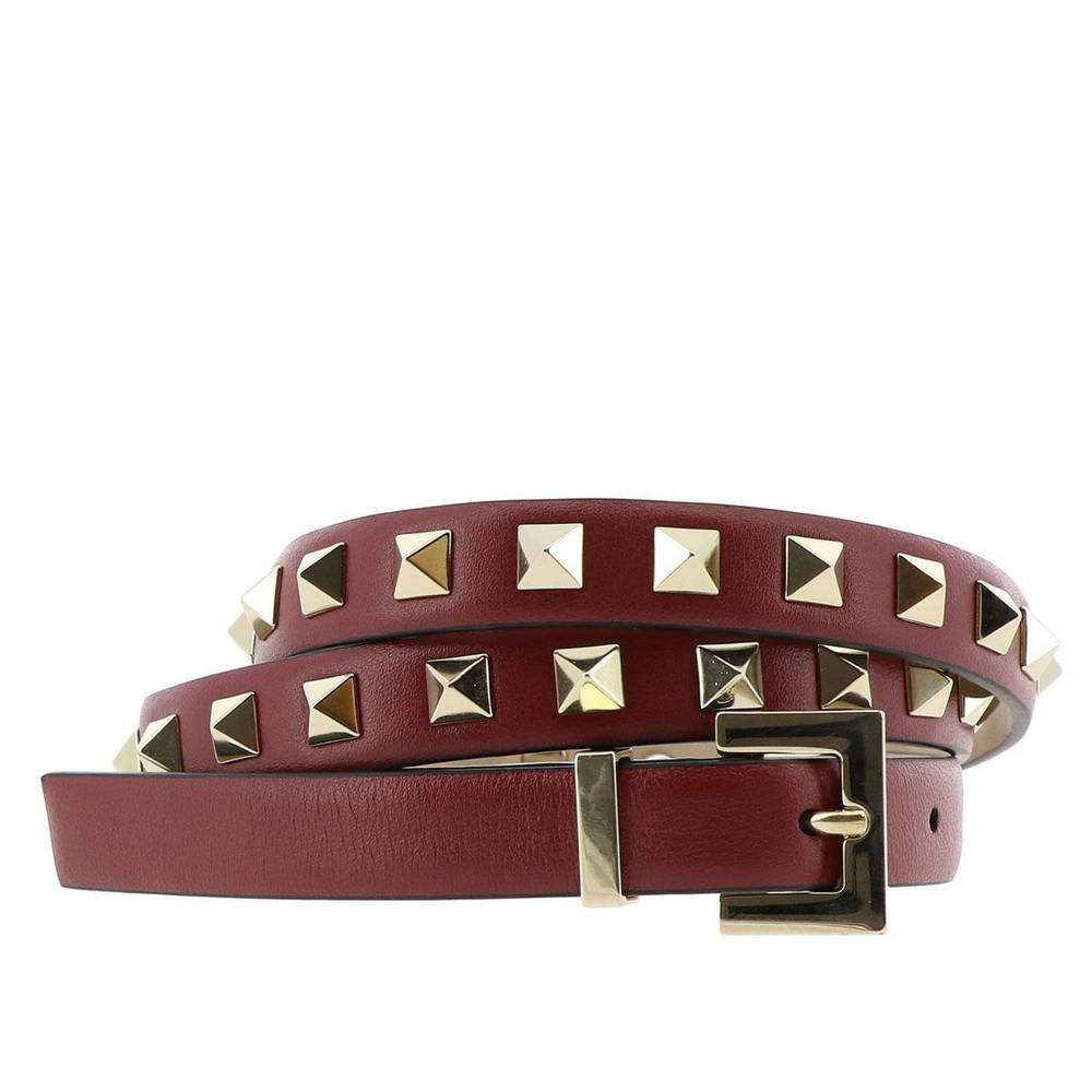 a1fa6ef47f0 Valentino - Rockstud Embellished Leather Belt - Womens - Red ...