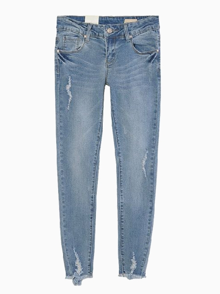 Mill White Tassels Jeans | Choies