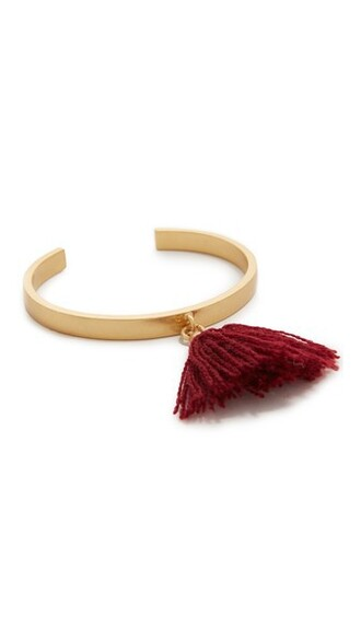 cuff tassel cuff bracelet burgundy jewels