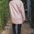 Dusty Pink Knit Coat