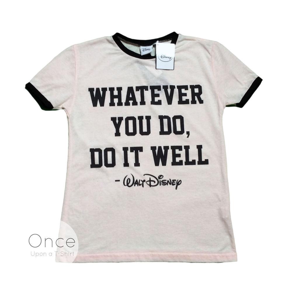 fc3d2de2 Ladies DISNEY WALT DISNEY QUOTE Retro T Shirt from PRIMARK