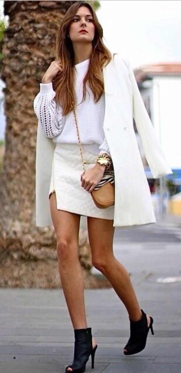 skirt white leather skirt angle white skirt white pleather skirt