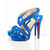 Red Bottom Christian Louboutin Trailer 140mm Sandals Suede Blue