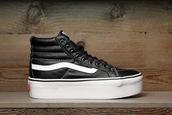 shoes,vans,platform vans,sk8-hi,grunge,soft grunge,platform shoes,leather sneakers,old skool vans,hipster,platform sneakers