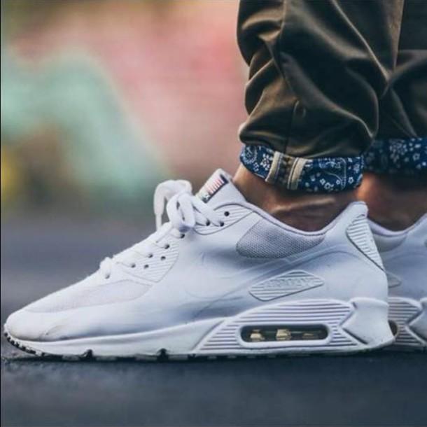 shoes white nike nike air max 1 pants