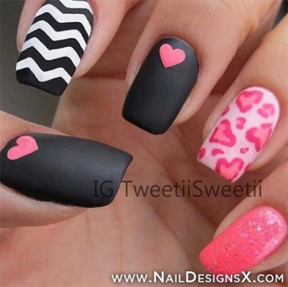 heart stripes nail polish matte nail polish