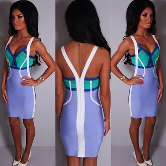 dress pink boutique mini dress bandage lilac green vip