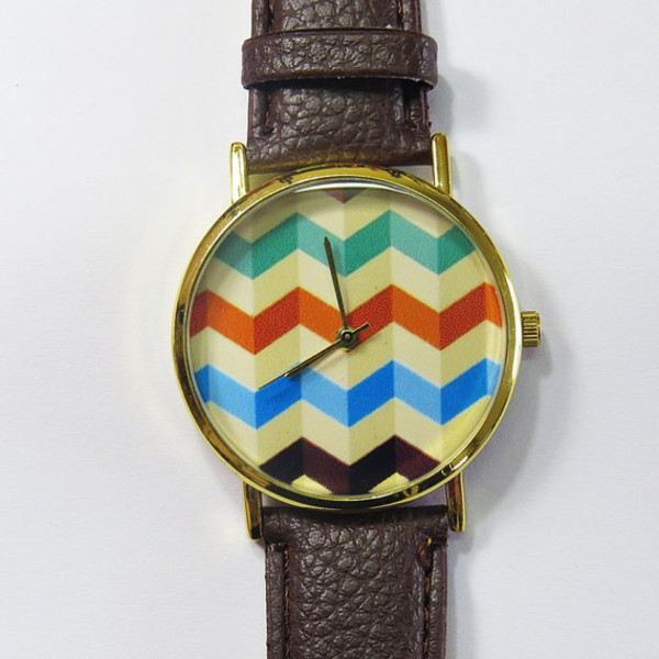 jewels watch watch handmade etsy chevron 3d style