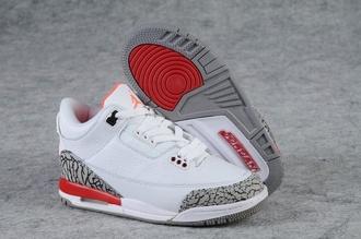 shoes jordan nike jordan 3 red