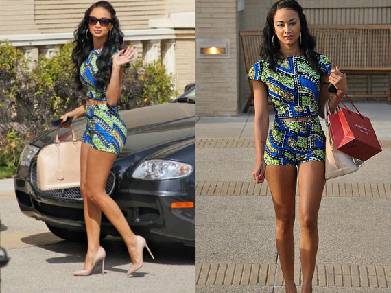 African Short Set - Ankara Short Set - African Crop Top ...