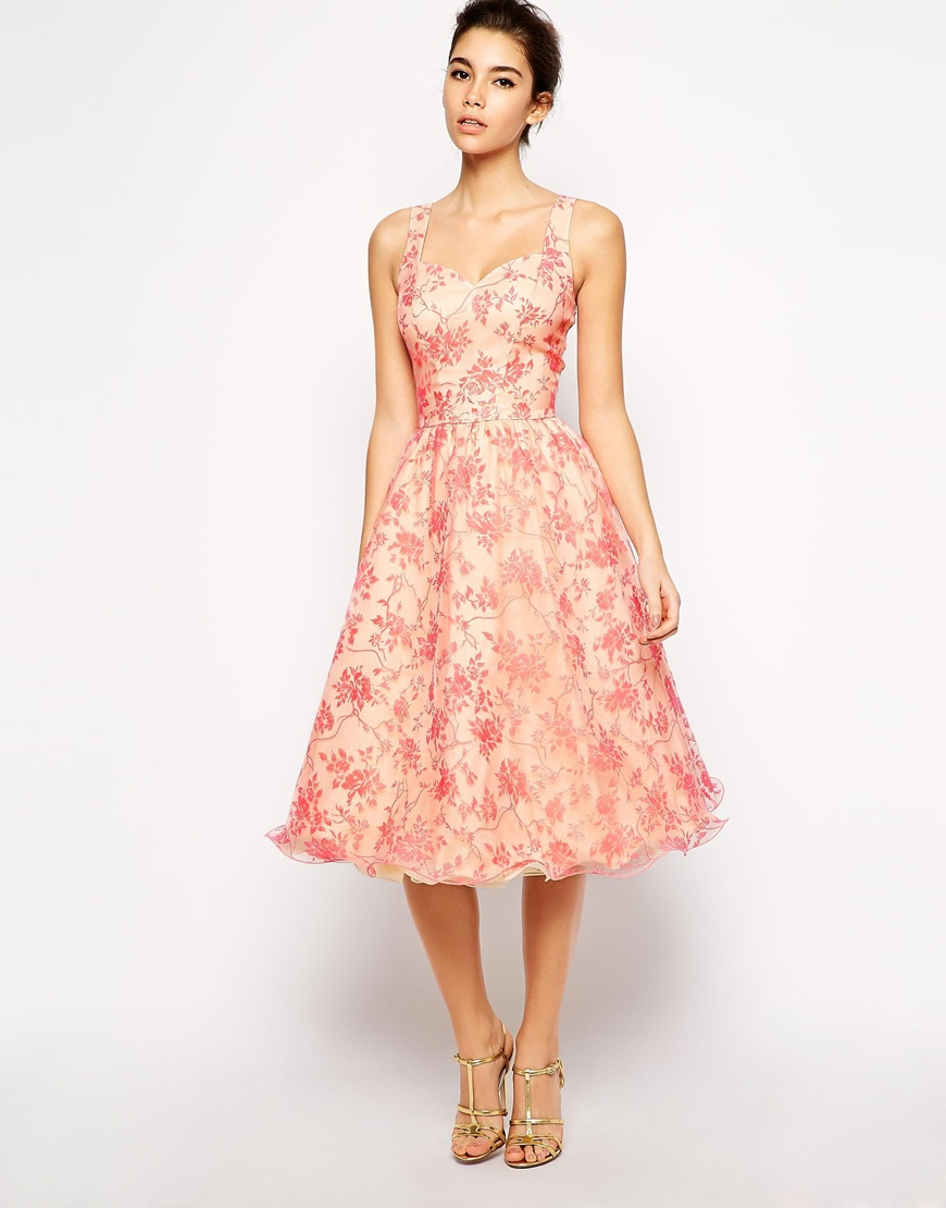 Chi chi london full midi skater prom dress with sweetheart neckline at asos.com