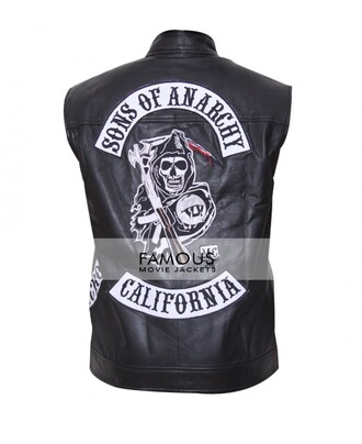jacket famousmoviejackets sons of anarchy vest leather jacket