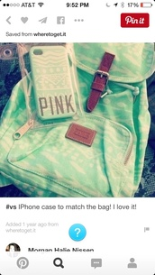 phone cover,mint iphone 5s phone  case,bag,mint green backpack,victoria's secret,pink,cheep price