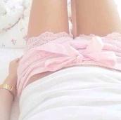 pajamas,shorts,lace shorts,lite pink,pink lace shorts,pastel pink,girly,romantic
